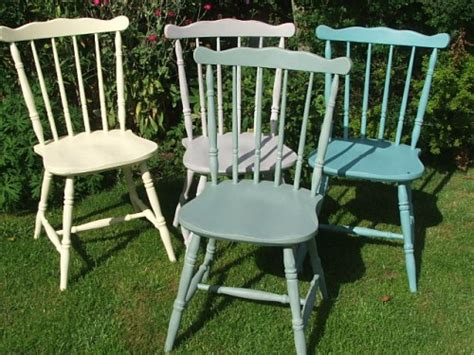 Country Style Painted Wooden Chairs