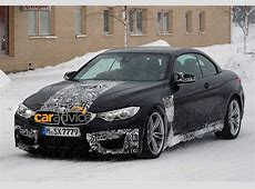 BMW M4 Convertible droptop sports car spied photos