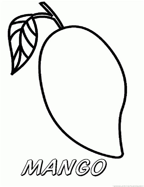 mango coloring pages
