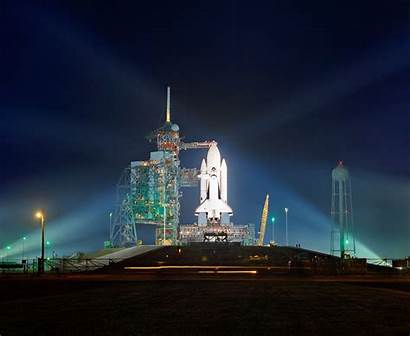 Sts Shuttle Space Columbia Cape Canaveral Floodlit