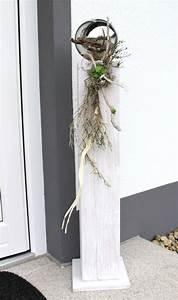 Große Blumentöpfe Für Außen : gs47 gro e dekos ule aus neuem holz f r innen und aussen wei gebeizt nat rlich dekoriert ~ Watch28wear.com Haus und Dekorationen