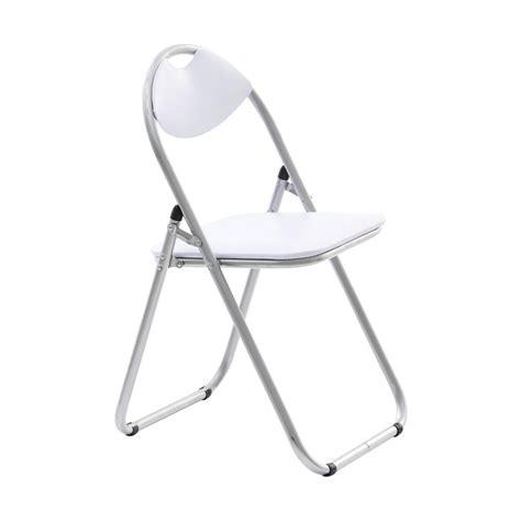 padded folding chair white officeworks