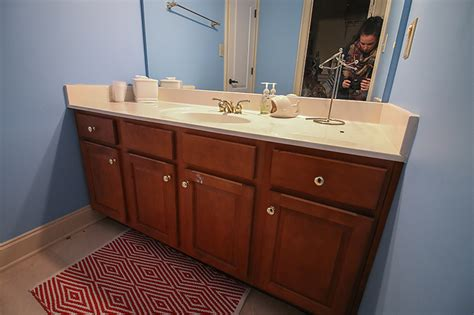 refinish kitchen cabinets diy how to refinish a bathroom vanity bower power 4651