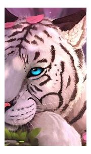 1336x768 Blue Eyes White Tiger In Fantasy World HD Laptop ...