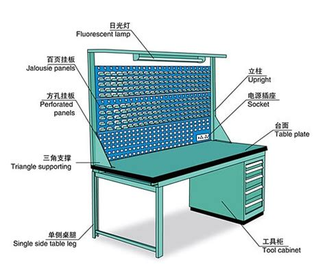 workshop office stainless steel workbench  drawers