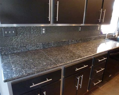 Small Home Kitchen Design Ideas - tiled kitchen countertop kitchen design 2017