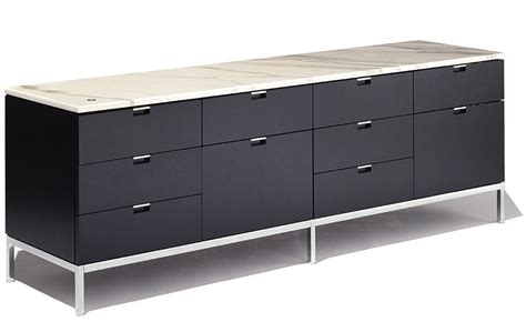 wooden credenza florence knoll 4 position credenza with drawers