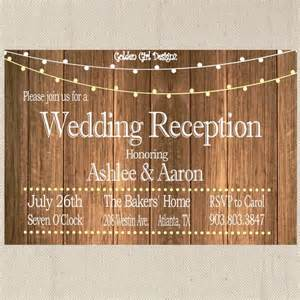 reception only wedding invitations vintage lights wedding reception invitation on wooden background reception only invitation