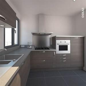idee relooking cuisine cuisine ultra design combinant With porte d entrée alu avec meuble salle de bain cooke et lewis