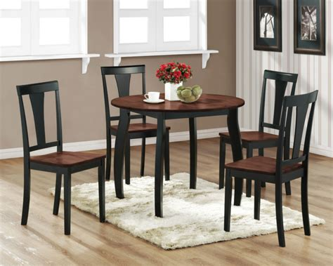 2 tone walnut black dining room kitchen table and 4