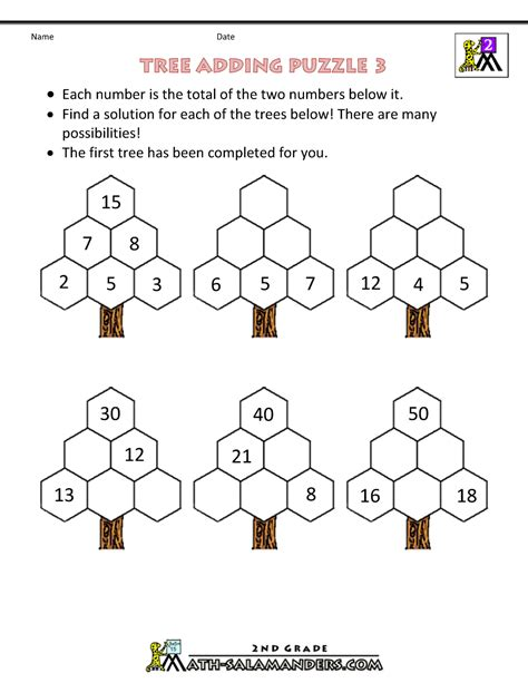 free math puzzles addition and subtraction