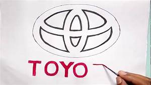 How To Draw The Toyota Logo  Logo  Symbol Drawing