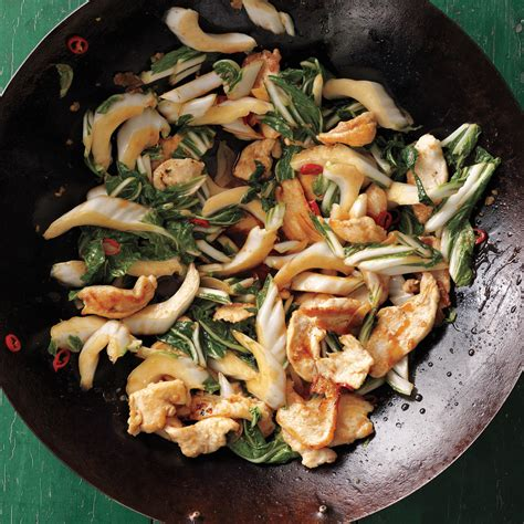 stir fried chicken  bok choy recipe martha stewart