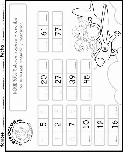 Anterior Posterior Numeros Matematicas Numbers Actividades Math