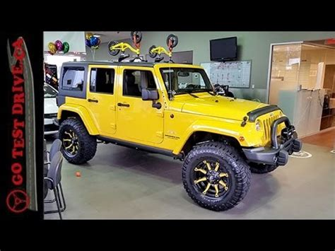 jeep wrangler custom bumblebee edition preview youtube