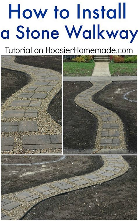 How To Install A Stone Walkway  Hoosier Homemade