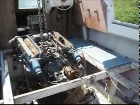 Removing Boat Engine With Excavator Youtube