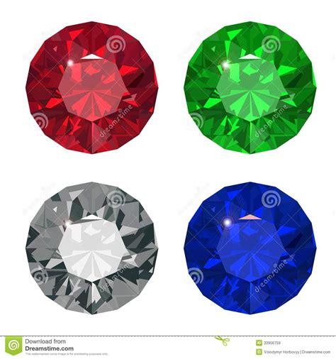 Jewel set. stock vector. Illustration of facet, refraction ...
