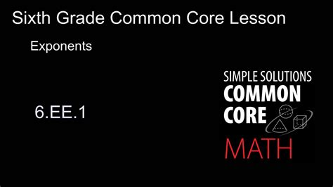 Sixth Grade Common Core Mathsimple Solutions
