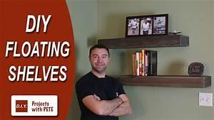 How to Make Floating Shelves - DIY Wood Floating Shelves