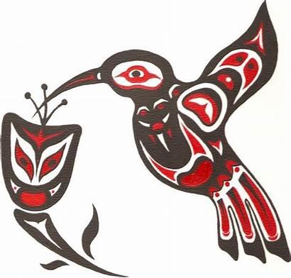 Native Clipart Indian Aboriginal Northwest Hummingbird American