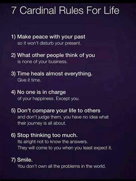 7 Cardinal Rules Of Life  Thoughts Pinterest