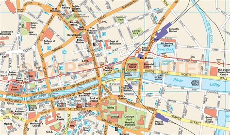royalty  dublin city map  illustrator   vector