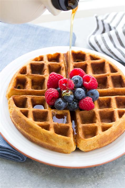 easy healthy pancake recipe  waffles