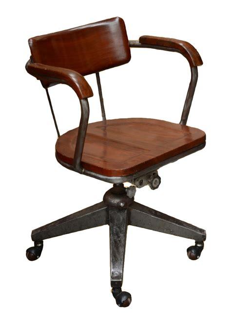 fauteuil de bureau industriel en acier pieds pyramide