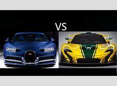 Bugatti Chiron VS McLaren P1 is very fast car but YouTube