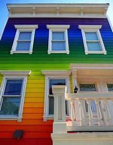 Rainbow Striped House