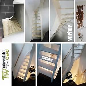 Offene Treppe Schließen Vorher Nachher : treppe vorher nachher tw malerwerkstatt rottenburg ~ Buech-reservation.com Haus und Dekorationen