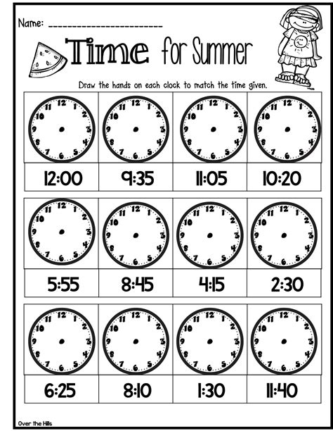 year 7 time worksheets quick assessment or time filler for telling time great