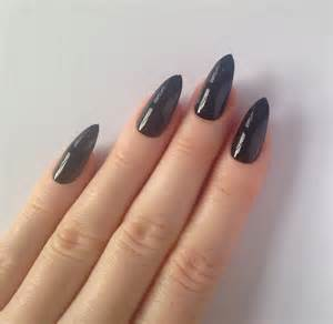 Black stiletto nails nail designs art by prettylittlepolish