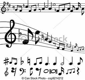 Vector Illustration of Music notes and symbols - Music ...