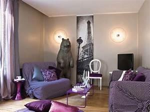 deco salon avec canape violet With idee deco salon violet