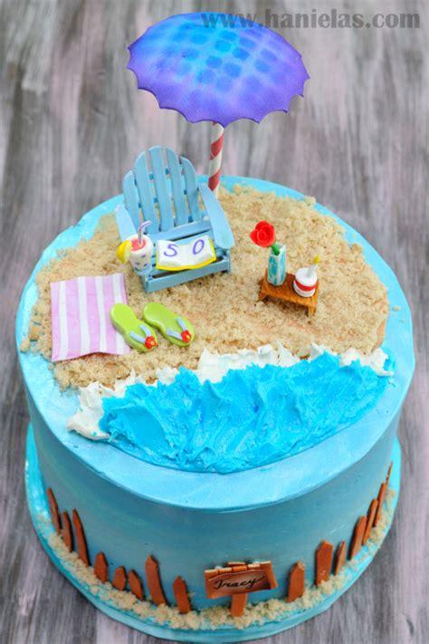 Haniela's Beach Cake With Gumpaste Adirondack Chair