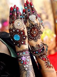 Coloured, Bridal, Mehndi, Designs, 17