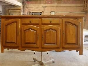 renovation sur buffet en chene en bois a cazan finition With renovation meuble en chene