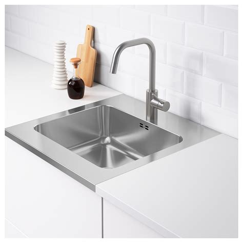 ikea stainless steel sink ammerån onset sink 1 bowl stainless steel 60x63 5 cm ikea
