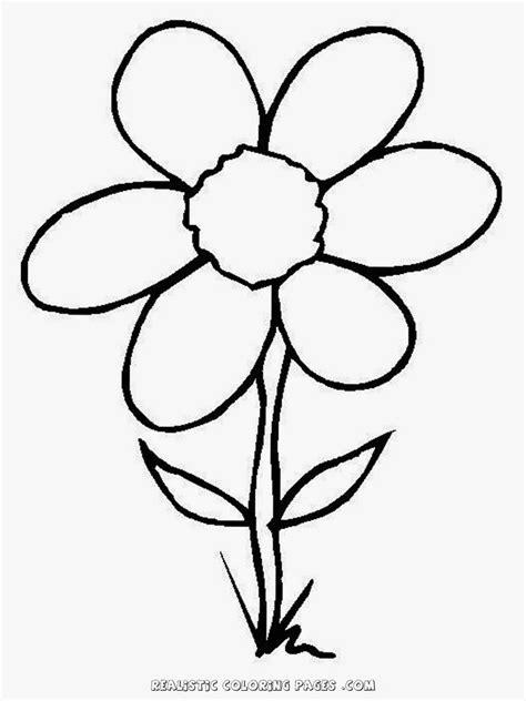 simple flower drawings  kids clipart