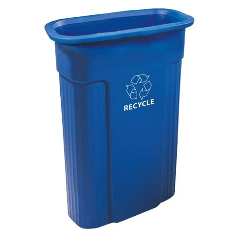 Toter 23 Gal Rectangular Recycle Container With Recycle
