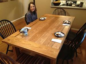 Free Plans for Making a Rustic Farmhouse Table A Lesson