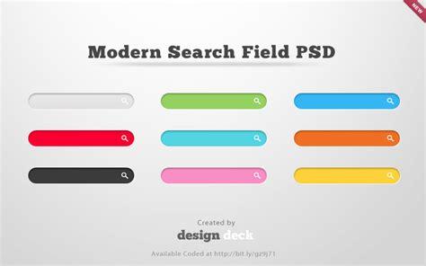 design deck modern search fields psd