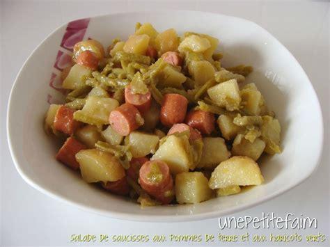 salade de saucisses aux pommes de terre et aux haricots