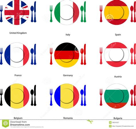 european cuisine european cuisine stock vector image of germany