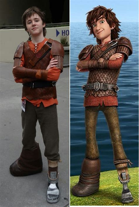 The Finished Hiccup Costume With Our Main Reference Photo