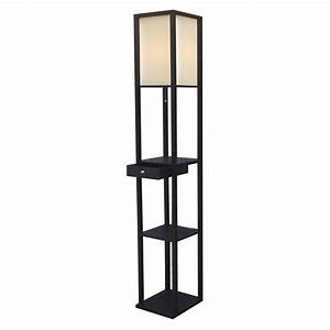 floor lamps with shelves decofurnish With floor lamp with shelves and drawer