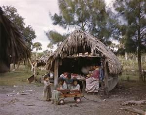 Florida Memory - Seminole children playing outside a ...