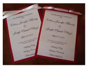 programs for weddings templates wedding collection nowadays wedding programs exles